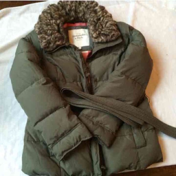 2974ce3c2eb Abercrombie & Fitch Jackets & Blazers - Abercrombie Olive Green Faux Fur  Puffer Jacket