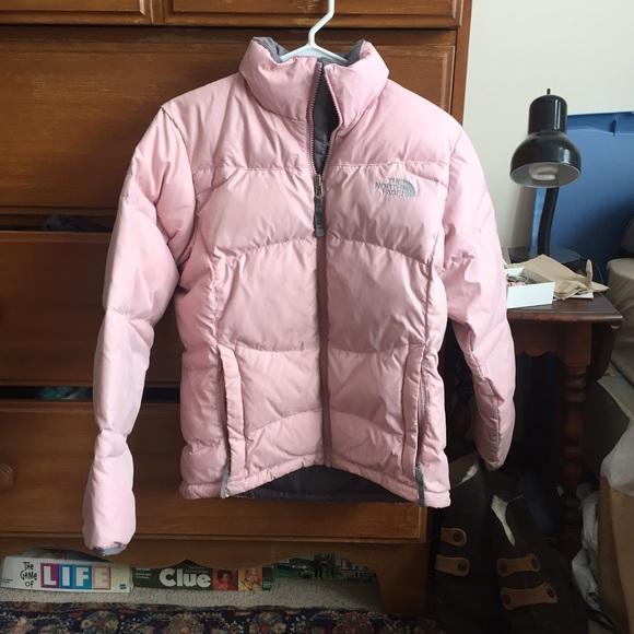 Baby Pink North Face Puffer. M 5686a985680278d3d0058eef a256f546b