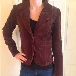 Abercrombie brown velvet blazer