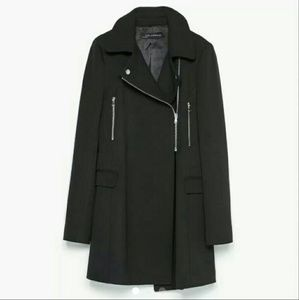Zara Jackets & Blazers - Zara moto cycle biker jacket coat