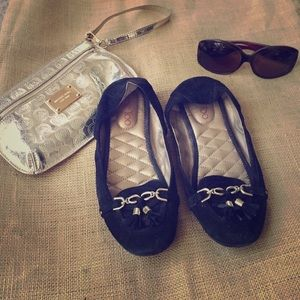 Me Too Shoes - Me Too Black Loafers W/ Tassel Size 8