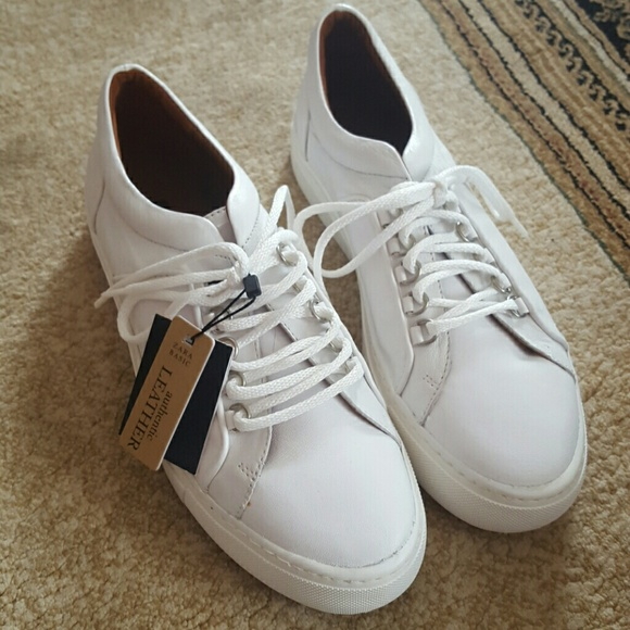 39 zara shoes zara white leather sneakers from