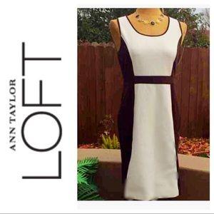 LOFT Dresses & Skirts - 🆕 LOFT Cream and Chocolate Brown Dress