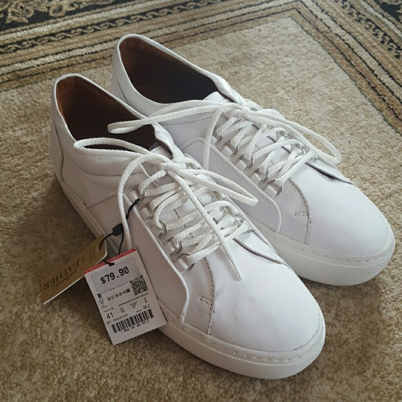 2939be9f56 Zara Shoes | White Leather Platform Sneakers | Poshmark
