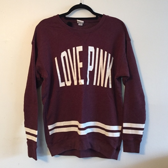 67% off PINK Victoria's Secret Sweaters - Burgundy Love pink ...