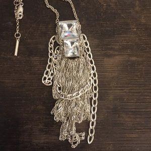 Kenneth Cole Reaction Jewelry - Rhinestone crystal fringe necklace