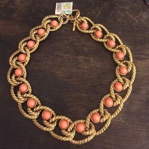 Kenneth Jay Lane Jewelry - Kenneth Jay Lane coral beaded rope necklace
