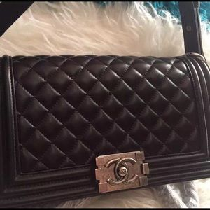 Chanel le boy medium flap bag