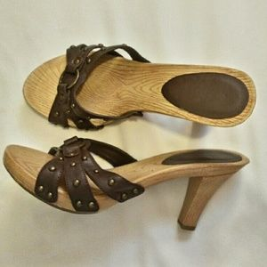 Shoes - Studded Brown Sandals