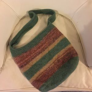 Felted wool crossbody bag.