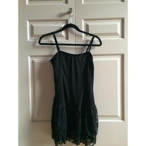 *NEW* Free People Black Cinched Dress
