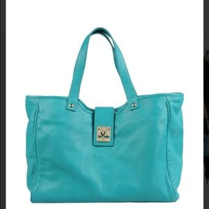 b15c569e0a M by Missoni Bags - M Missoni Turquoise Leather Tote Bag