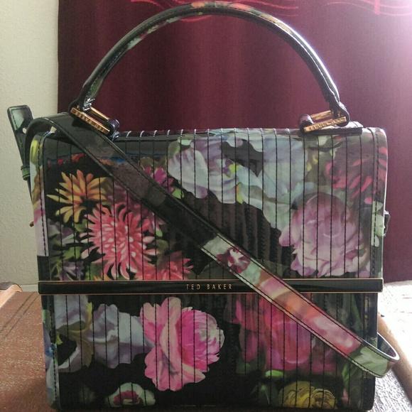 19e8891bd2cb9 Ted Baker Davena black floral print purse. M 5686f38eeaf030406b006c73