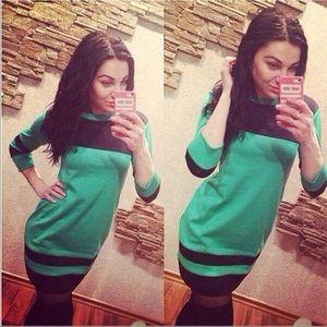 Dresses & Skirts - Green and Black Dress