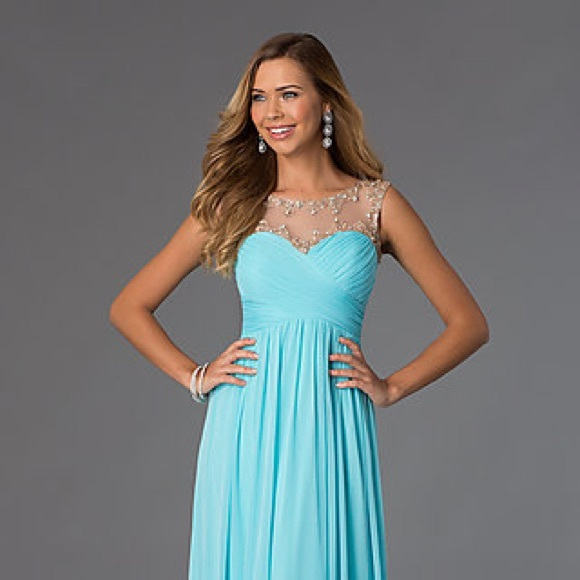 60% off Promgirl Dresses & Skirts - Blue floor length prom dress ...