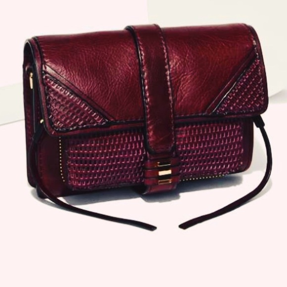 Memorial SALE BNWT She + Lo Burgundy Crossbody Bag b1a231b6c976c