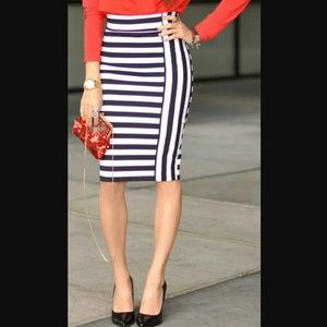 VINTAGE STRIPED SEQUIN SKIRT