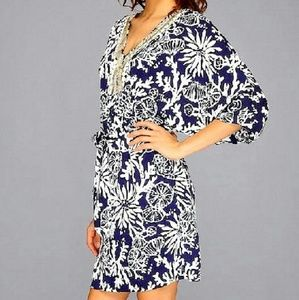 NWT Lilly Pulitzer Wilda Navy & White Caftan Dress