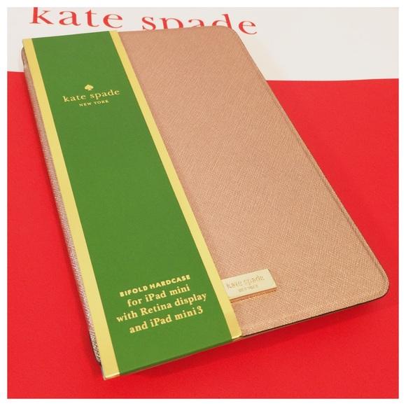 size 40 dd038 935b6 New Kate Spade iPad mini folio case rose gold NWT