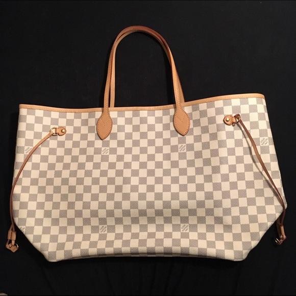 8b6bce0c8fe9 Louis Vuitton Handbags - Louis Vuitton Neverfull GM Damier Azur