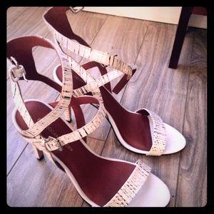 Rebecca Minkoff genuine snakeskin sandals