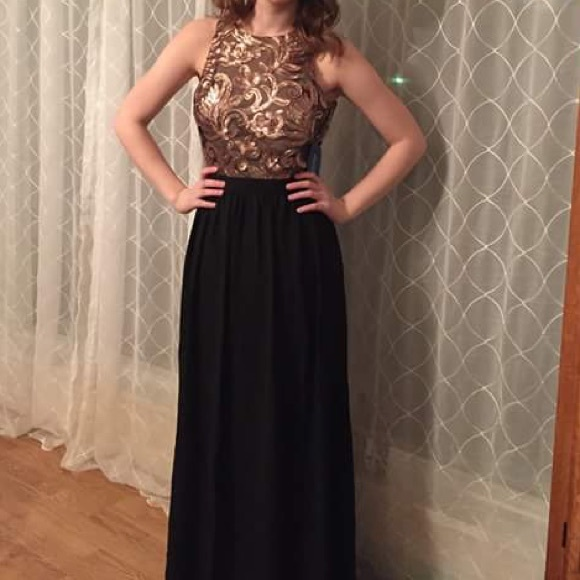 Black and Gold and Bronze Prom Dresses