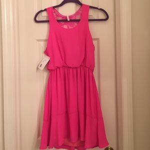 Pink sleeveless dress
