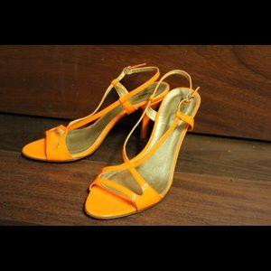 J. Crew Orange Heels