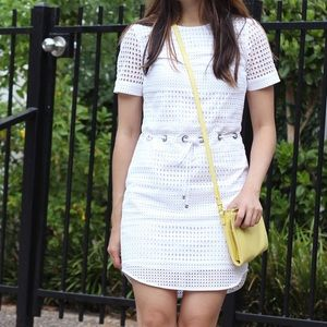Michael Kors eyelet dress with waist tie