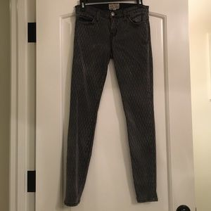 Current Elliott diamond print skinny leg jeans