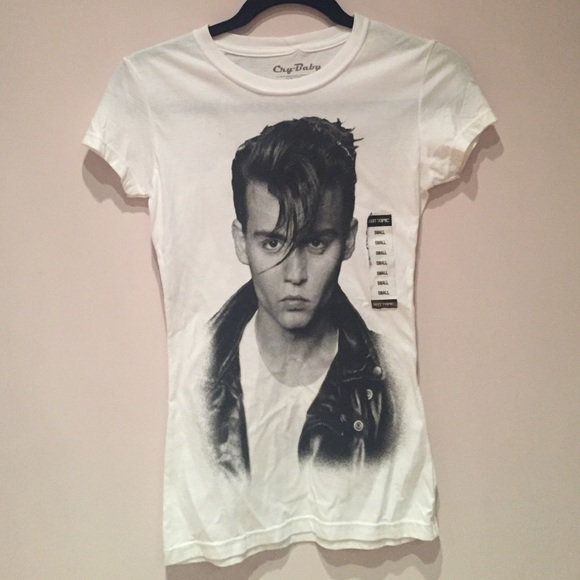 55 Off Hot Topic Tops Johnny Depp Cry Baby Shirt From
