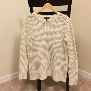 Mango off white and metallic knit sweater