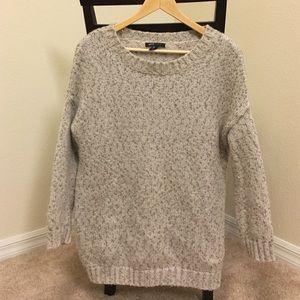 Mango grey and metallic over sized sweater