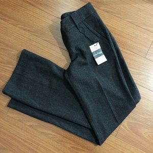 Pants - Grey Bootcut / Straight Leg Pleated Trousers