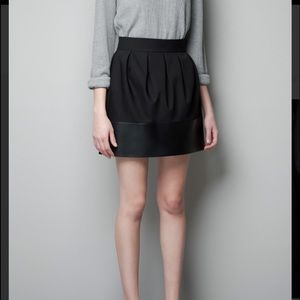 Brand New Zara faux leather combination skirt