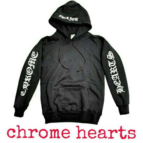 9b00572b90c Chrome Hearts Tops - Chrome Hearts Waffle Lined Pullover Hoodie
