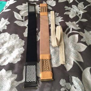 Accessories - 3 belts bundle for sale