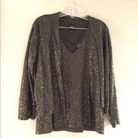 2b65c1f16065 Eileen Fisher Sweaters - Eileen Fisher Sequin Cardigan Set