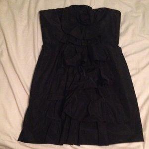 NWT BCBG Size 8 all black mini cocktail dress