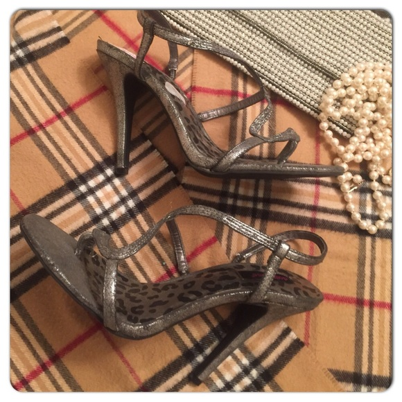 d32f4d5728 Grey Sexy Slip On Sandals w Animal Print Footbed