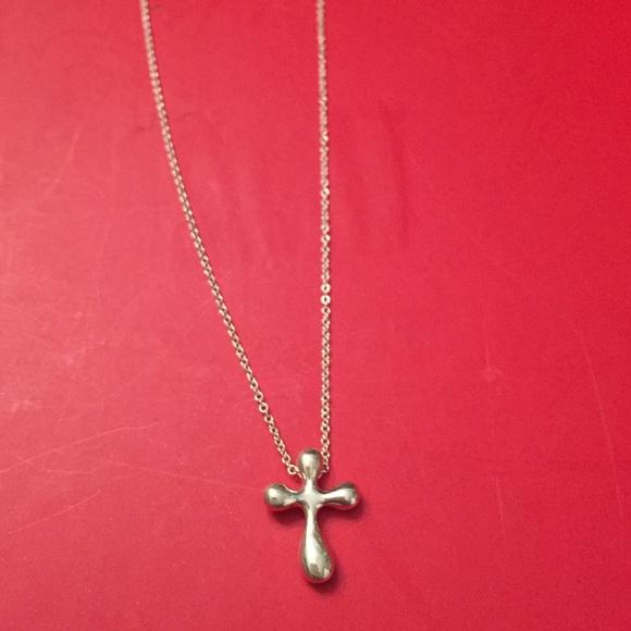 5b9acc612 Tiffany & Co. Jewelry | Authentic Tiffany Co Cross Necklace | Poshmark