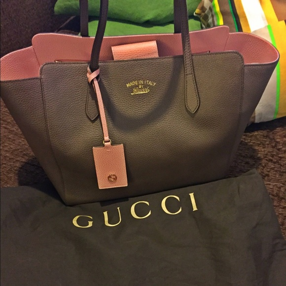 e8b647315541 Gucci Bags | Authentic Swing Medium Leather Tote | Poshmark