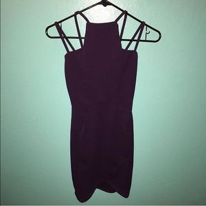 Dresses & Skirts - Plum asymmetrical bodycon dress