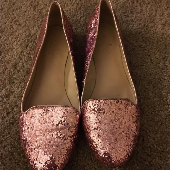 Kate Spade Shoes Rose Gold Glitter Flats Poshmark