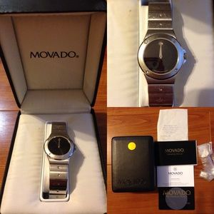 Movado Watch Sapphire Crystal Ladies Stainless