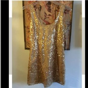Jenny Packham Dresses & Skirts - NWT JENNY HAN GOLD SEQUIN MINI DRESS SZ XS $140