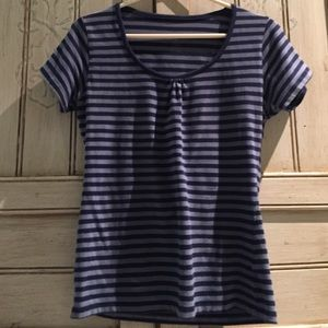 Austin Clothing Co. Tops - Austin Clothing Co Blue Striped Tee