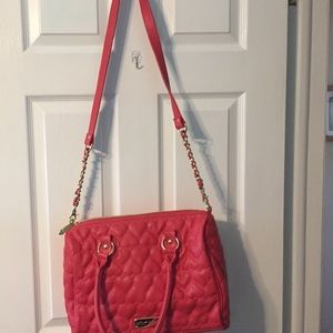 Betsey Johnson Quilted Satchel/Purse.