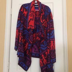 ASOS Draped Ethnic Blanket Sweater