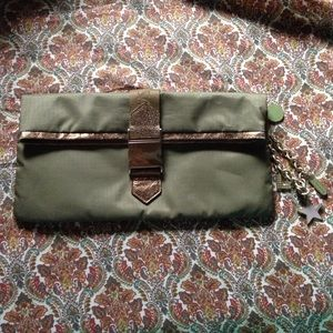 Lesportsac green clutch